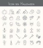 комплект иконы halloween Стоковые Фото