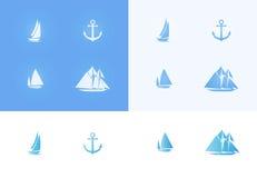 комплект икон морской Стоковое фото RF