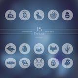 Комплект икон пасхи Стоковые Фотографии RF