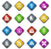 комплект икон промышленный Стоковое Изображение RF