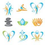 Spa_massage_health_icons Стоковое Фото