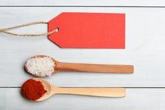 Комплект ингридиентов для варить на винтажной предпосылке Стоковая Фотография
