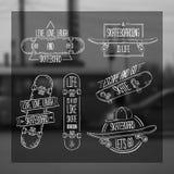 Комплект линейных, современных логотипов, знаков, значков, ярлыков бесплатная иллюстрация