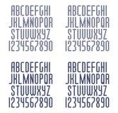 Комплект линейных шрифтов Стоковое Изображение RF