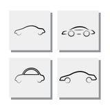Комплект линии автомобиля логотипа конструирует - vector значки Стоковое Изображение RF