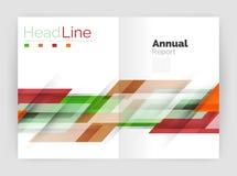 Комплект линий абстрактных предпосылок дела прямых иллюстрация вектора