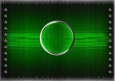 Комплект линий на зеленой предпосылке Стоковое Изображение RF