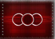 Комплект линий на красной предпосылке Стоковые Фотографии RF