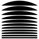 Комплект линий с различным уровнем деформации Абстрактное geome Стоковые Изображения