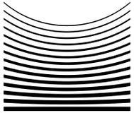Комплект линий с различным уровнем деформации Абстрактное geome иллюстрация вектора