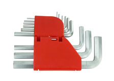 Комплект инструмента или разводного гаечного ключа набора шестиугольника Стоковая Фотография RF