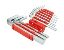 Комплект инструмента или разводного гаечного ключа набора шестиугольника Стоковое Изображение RF