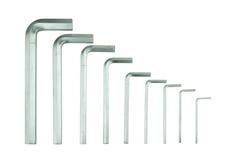 Комплект инструмента или разводного гаечного ключа набора шестиугольника Стоковое Фото