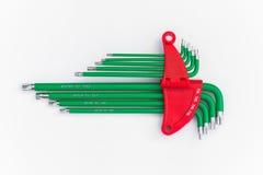 Комплект инструмента или разводного гаечного ключа набора шестиугольника Стоковое Изображение