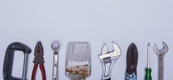 Комплект инструмента на белой предпосылке Стоковое Изображение
