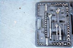 Комплект инструмента на мостоваой Стоковое Изображение