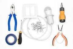 Комплект инструмента для электрика Стоковое Изображение RF