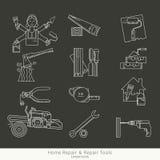 Комплект инструментов ремонта Стоковое Изображение RF