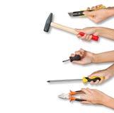 Комплект инструментов удерживания рук людей Стоковое Изображение