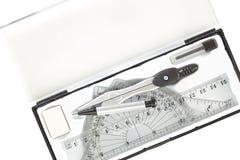 Комплект инструментов школы математики Стоковая Фотография RF