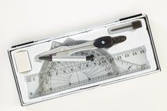 Комплект инструментов школы математики Стоковое Изображение RF