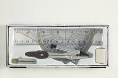 Комплект инструментов школы математики Стоковые Фото