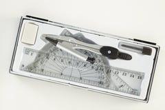 Комплект инструментов школы математики Стоковое Фото