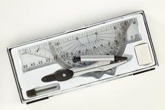 Комплект инструментов школы математики Стоковое Изображение