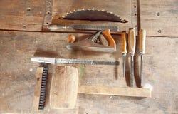 Комплект инструментов для работы с древесиной Стоковые Изображения RF