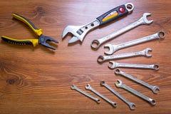 Комплект инструментов Стоковое Изображение