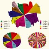 Комплект инструментов Infographic иллюстрация вектора