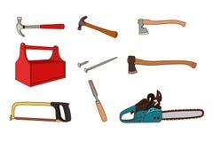 Комплект инструментов Woodworking Стоковое Изображение RF