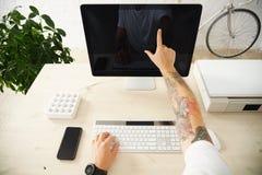 Комплект интерфейса представления экрана касания Стоковые Фото