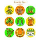 комплект Ирландии икон Стоковая Фотография RF