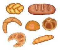 Комплект испеченных хлебов бесплатная иллюстрация