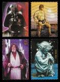 Штемпеля почтоваи оплата характера звездных войн Стоковые Изображения