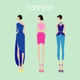 Комплект и дизайн моды иллюстрация Иллюстрация штока