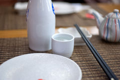 Комплект и ради таблицы японского стиля Стоковые Фотографии RF