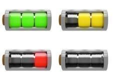 Комплект иллюстрации батарей Стоковое фото RF