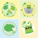 Комплект иллюстрации вектора дня счастливого St. Patrick Стоковое Изображение