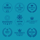Комплект иллюстрации вектора логотипов Стоковое фото RF