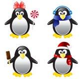 Комплект иллюстрации вектора пингвина Стоковое Изображение RF