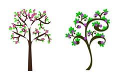 Комплект иллюстрации деревьев Стоковые Изображения