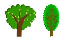 Комплект иллюстрации деревьев Стоковое Изображение RF
