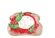 Комплект иллюстрации делать эскиз к сандвичам с разнообразием завалок, различного состава и ингридиентов иллюстрация штока