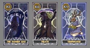 Комплект иллюстрации карточки Tarot бесплатная иллюстрация