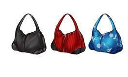 Комплект иллюстрации различных покрашенных сумок hobo бесплатная иллюстрация