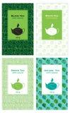 Комплект иллюстраций упаковки чая Иллюстрация вектора