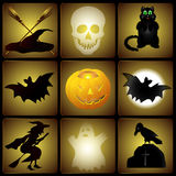 Комплект иллюстраций хеллоуина иллюстрация штока