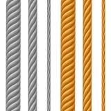 Комплект кабелей металла Стоковые Изображения